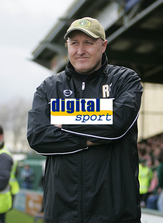 Photo: Lee Earle.<br /> Yeovil Town v Swansea City. Coca Cola League 1. 24/02/2007. Yeovil manager Russell Slade.