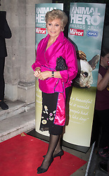 Grosvenor House Hotel, London, September 7th 2016. Celebrities attend the RSPCA's annual awards ceremony recognising the country's bravest animals and the individuals committed to improving their lives. PICTURED: Angela Rippon