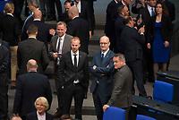 DEU, Deutschland, Germany, Berlin, 24.10.2017: Leif-Erik Holm, Matthias Büttner, Frank Pasemann, Martin Reichardt, Abgeordnete der Partei Alternative für Deutschland (AfD), bei der konstituierenden Sitzung des 19. Deutschen Bundestags mit Wahl des Bundestagspräsidenten.