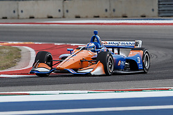 March 23, 2019 - Austin, TX, U.S. - AUSTIN, TX - MARCH 23: Scott Dixon (9) in the PNC Bank Chip Ganassi Racing, Honda powered Dallara IR-18 at turn 16 during Practice 3 at the IndyCar Classic held March 22-24, 2019 at the Circuit of the Americas in Austin, TX. (Photo by Allan Hamilton/Icon Sportswire) (Credit Image: © Allan Hamilton/Icon SMI via ZUMA Press)