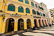 Portuguese colonial buildings Senado Square Macau.