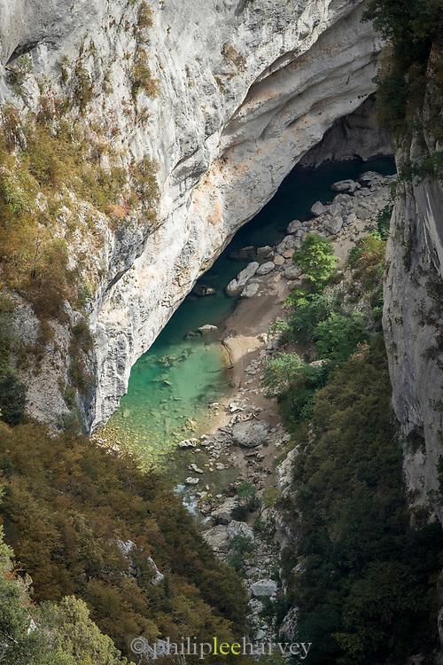 Natural water pool in Gorges du Verdon, Verdon Natural Regional Park, France