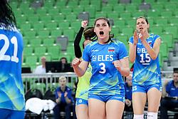 Mojca Bozic of Slovenia celebrates during volleyball match between Slovenia and Slovakia in CEV European League Women on June 22, 2016 in Stozice, Ljubljana, Slovenia. Photo by Morgan Kristan / Sportida
