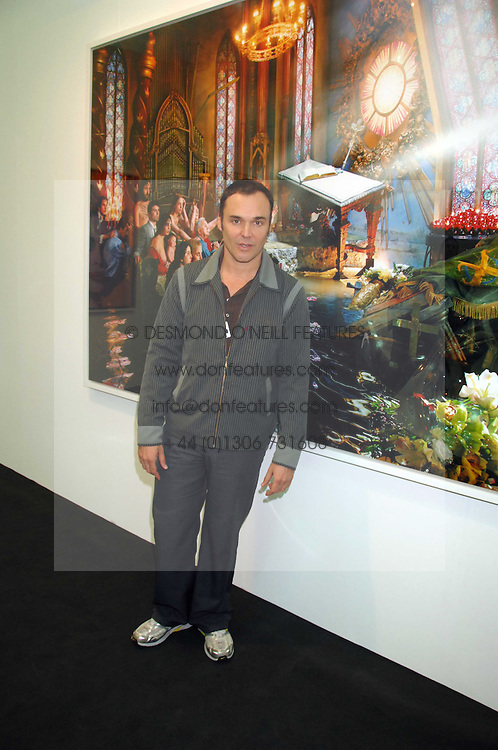 Photographer DAVID LACHAPELLE at the opening of Frieze Art Fair 2007 held in regent's Park, London on 10th October 2007.<br /><br />NON EXCLUSIVE - WORLD RIGHTS