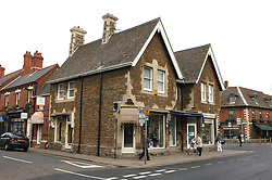 Centre shops in Oakham; County town in ancient Rutland twinned with Barnstedt,
