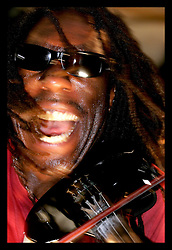April 29th, 2006. New Orleans, Louisiana. Jazzfest . The New Orleans Jazz and Heritage festival. Violinist Boyd Tinsley of The Dave Matthews Band performs on the Acura Stage.