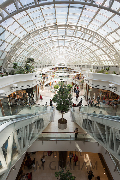 Luxury shops at Istinye Park shopping mall near the Levent financial and business district of Istanbul, Turkey