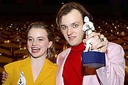 Luna Wedler und Jan Bülow anlässlich der Verleihung des Bayerischeren Filmpreises 2019