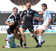 Steven Yates and D J Forbes of New Zealand during the IRB Rugby Sevens tournament held at Adelaide Oval,Adelaide, South Australia,Saturday, April 5, 2008.<br /> Photo;Michael Oakes/SMP<br /> Conditions of Use: This image is intended for editorial use only (EG: news or commentary, print or electronic).  Any commercial or promotional use requires additional clearance.  Please contact for details.
