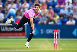 Steven Finn of Middlesex in action of Middlesex in action<br /> <br /> Photographer Craig Thomas/Replay Images<br /> <br /> Vitality Blast T20 - Round 4 - Glamorgan v Middlesex - Friday 26th July 2019 - Sophia Gardens - Cardiff<br /> <br /> World Copyright © Replay Images . All rights reserved. info@replayimages.co.uk - http://replayimages.co.uk