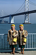 Famous Identical Twins by the San Francisco Bay Bridge