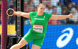 Hungary's Anita Marton competes in the Women's Discus Throw Qualifying during day eight of the 2017 IAAF World Championships at the London Stadium