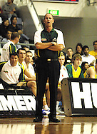 Brian Goorjian, Coach of Australia during the Ramsay Shield, Australia Post Boomers v New Zealand, Game 2, 2008.  Played at the State Netball & Hockey Centre. Australian Post Boomers defeated New Zealand. .Photo: Joel Strickland / SMP Images.Use information: This image is intended for Editorial use only (e.g. news or commentary, print or electronic). Any commercial or promotional use requires additional clearance.