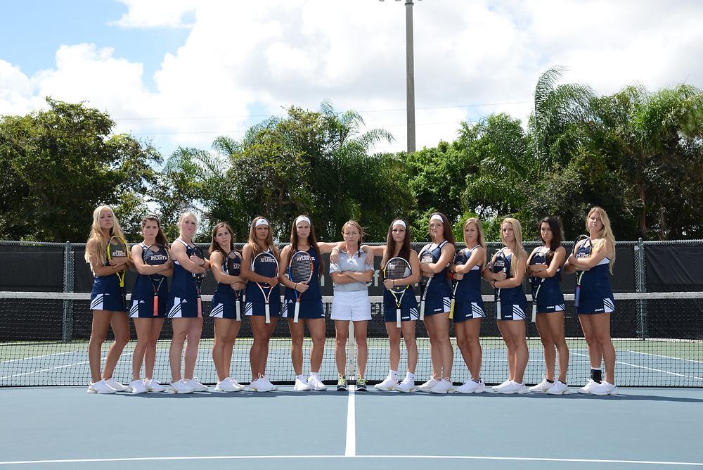 2015 FAU Women's Tennis Team Photo