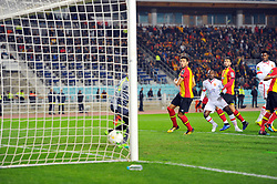 March 8, 2019 - Rades, Tunisia - First goal for EST scored by Godfred Asante (14) against his side during the  Match of the 5th day of the group phase of the CAF Champions League, between L'Esperance sportive de Tunis (EST) and Horoya Conakry (HAC) of Guinea Friday 8 March Radès.EST won by 2/0 ..photo: Yassine Mahjoub. (Credit Image: © Chokri Mahjoub/ZUMA Wire)