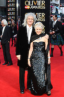 Brian May, Anita Dobson, The Olivier Awards, Royal Opera House Covent Garden, London UK, 03 April 2016, Photo by Richard Goldschmidt