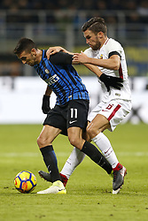 January 21, 2018 - Rome, Italy - Olympic Stadium, MILAN, Italy - 21/01/2018..(L-R) Matias Vecino of Inter Milan and Kevin Strootman fight for the ball during their Italian Serie A soccer match...Credit: Giampiero Sposito/Pacific Press (Credit Image: © Giampiero Sposito/Pacific Press via ZUMA Wire)