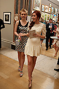 LILY HOOD; MARY HOOD, Royal Academy of Arts Summer Exhibition Preview Party 2011. Royal Academy. Piccadilly. London. 2 June <br /> <br />  , -DO NOT ARCHIVE-© Copyright Photograph by Dafydd Jones. 248 Clapham Rd. London SW9 0PZ. Tel 0207 820 0771. www.dafjones.com.