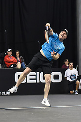 October 4, 2018 - St. Louis, Missouri, U.S - JIM COURIER serves the ball during the Invest Series True Champions Classic on Thursday, October 4, 2018, held at The Chaifetz Arena in St. Louis, MO (Photo credit Richard Ulreich / ZUMA Press) (Credit Image: © Richard Ulreich/ZUMA Wire)