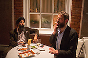 WARIS AHLUWALIA; SANDRO KOPP, Charles Finch and  Jay Jopling host dinner in celebration of Frieze Art Fair at the Birley Group's Harry's Bar. London. 10 October 2012.