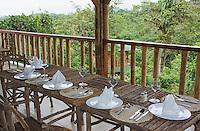 Open-air dining room at San Jorge de Milpe Eco-Lodge, Ecuador