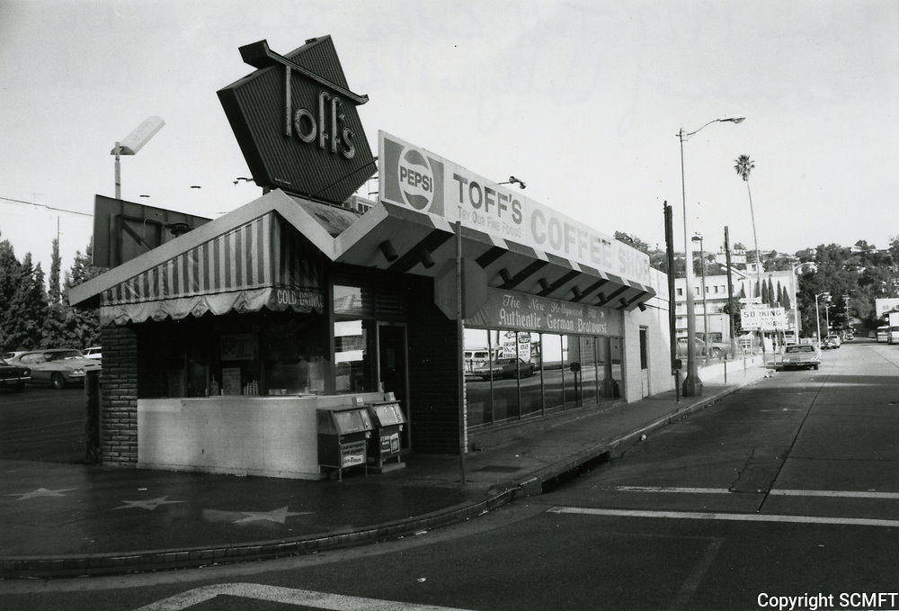 1977 Toff's Coffee Shop on Hollywood Blvd.