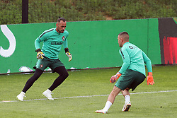 May 30, 2018 - Lisbon, Portugal - Portugal's goalkeeper Beto (L) and Portugal's goalkeeper Anthony Lopes in action during a training session at Cidade do Futebol (Football City) training camp in Oeiras, outskirts of Lisbon, on May 30, 2018, ahead of the FIFA World Cup Russia 2018 preparation matches against Belgium and Algeria...........during the Portuguese League football match Sporting CP vs Vitoria Guimaraes at Alvadade stadium in Lisbon on March 5, 2017. Photo: Pedro Fiuzaduring the Portugal Cup Final football match CD Aves vs Sporting CP at the Jamor stadium in Oeiras, outskirts of Lisbon, on May 20, 2015. (Credit Image: © Pedro Fiuza/NurPhoto via ZUMA Press)