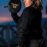 Photoshoot with Leslie Badger on February 23, 2021 in Santa Monica, California.