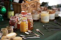 Helmsley Castle. christmas food set out for tasting