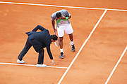 Roland Garros 2011. Paris, France. May 27th 2011..French player Jo-Wilfried TSONGA against Stanislas WAWRINKA