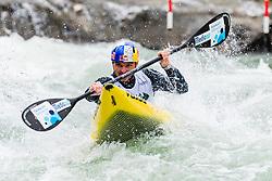 Peter Kauzer of Slovenia during Kayak Finals at World Cup Tacen, 17 October 2020, Tacen, Ljubljana Slovenia. Photo by Grega Valancic / Sportida