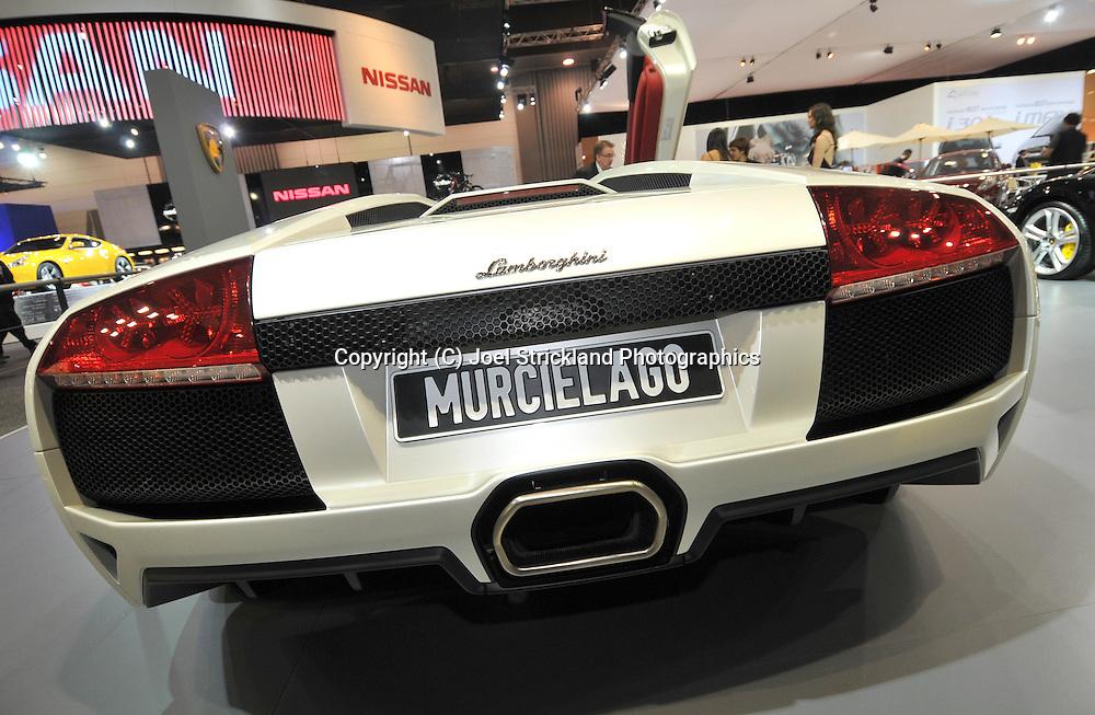 Lamborghini Murcielago.Media Preview .Melbourne International Motorshow.Melbourne Exhibition Centre.Clarendon St, Southbank, Melbourne .Friday 27th of February 2009.(C) Joel Strickland Photographics.