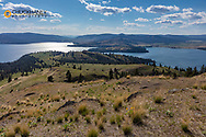 Looking down to Flathead Lake from high point on Wild Horse Island State Park, Montana, USA