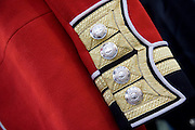 cuff and cuff links on an old red army uniform at a market in London