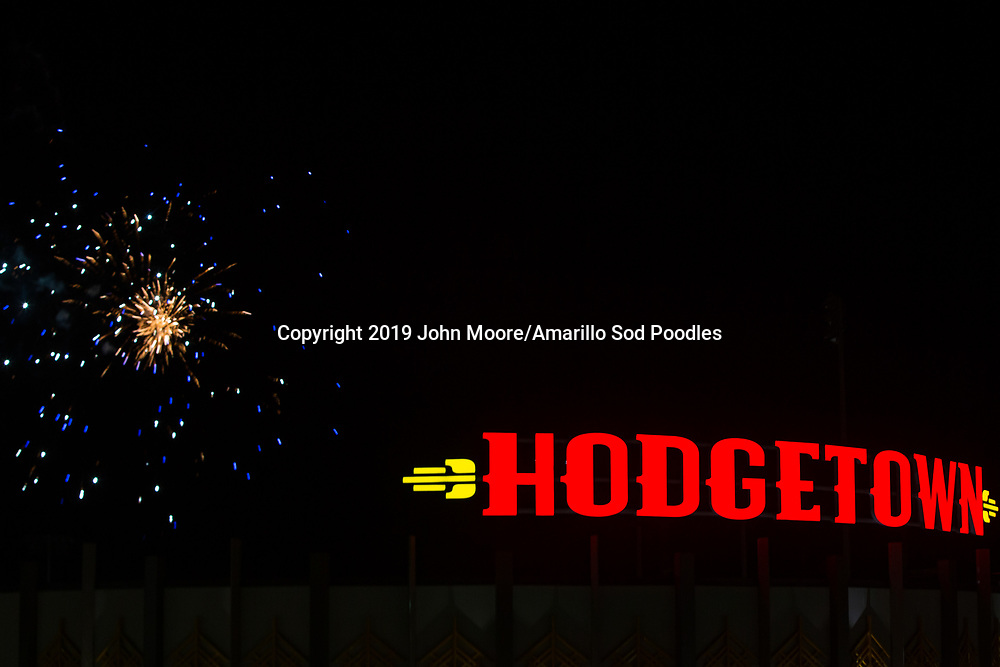 The Amarillo Sod Poodles played against the Frisco RoughRiders on Friday, Aug. 16, 2019, at HODGETOWN in Amarillo, Texas. [Photo by John Moore/Amarillo Sod Poodles]