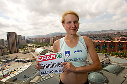 Daneja Grandovec of Slovenia at the top of her hotel after competing in the women's marathon at the 2010 European Athletics Championships, Hotel AC Barcelona, in Barcelona on July 31, 2010.(Photo by Vid Ponikvar / Sportida)