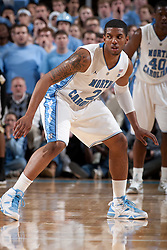 CHAPEL HILL, NC - FEBRUARY 15: Leslie McDonald #2 of the North Carolina Tar Heels defends while playing against the Wake Forest Demon Deacons at the Dean E. Smith Center in Chapel Hill, North Carolina. North Carolina won 64-78. (Photo by Peyton Williams/UNC/Getty Images) *** Local Caption *** Leslie McDonald