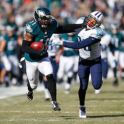 Philadelphia Eagles wide receiver Josh Huff #11 runs the game opening kickoff back for a touchdown during the NFL game between the Tennessee Titans and the Philadelphia Eagles at Lincoln Financial Field in Philadelphia, Pennsylvania on Sunday November 16th 2014. The Eagles won 43-24. (Brian Garfinkel/Philadelphia Eagles)