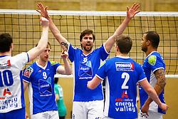 20150325 NED: Eredivisie Inter Rijswijk - Abiant Lycurgus, Rijswijk<br />Chris Voth (9) of Abiant Lycurgus, Dennis van der Veen (6) of Abiant Lycurgus<br />©2015-FotoHoogendoorn.nl / Pim Waslander