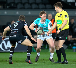 Connacht's Kieran Marmion<br /> <br /> Photographer Simon King/Replay Images<br /> <br /> Guinness PRO14 Round 19 - Ospreys v Connacht - Friday 6th April 2018 - Liberty Stadium - Swansea<br /> <br /> World Copyright © Replay Images . All rights reserved. info@replayimages.co.uk - http://replayimages.co.uk