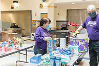 "The Mustang Food Pantry ""food drop off day"" on Friday, May 1, 2020 - during the Covid-19 pandemic."