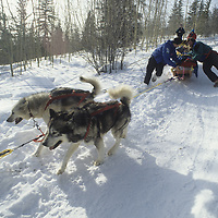 Training expedition departs from Yellowknife, NWT, Canada.