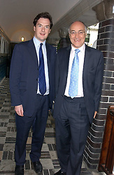 Left to right, GEORGE OSBORNE MP and MICHAEL HOWARD MP at the No Campaign's Summer Party - a celebration of the 'Non' and 'Nee' votes in the Europen referendum in France and The Netherlands held at The Peacock House, 8 Addison Road, London W14 on 5th July 2005.<br /><br />NON EXCLUSIVE - WORLD RIGHTS