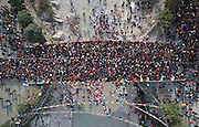 MIANYANG, CHINA - MARCH 18: (CHINA OUT) <br /> <br /> 200,000 Gather At Peaceful Bridge In Sichuan<br /> <br /> People get together walking on the peaceful bridge on March 18, 2014 in Mianyang, Sichuan Province of China. A traditional rhyme in Sichuan goes like this: °∞Toss medicine money, worship your godfather, throw away clothes, and pray for the whole family.°±Tens of thousands of people in Mianyang flocked to Jushui Village on March 18 for the Ju Water Bridge Festival , almost all of them to do one thing: step on a bridge.<br /> ©Exclusivepix