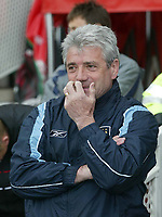 Photo. Andrew Unwin, Digitalsport.<br /> NORWAY ONLY<br /> <br /> Middlesbrough v Manchester City, Barclaycard Premier League, Riverside Stadium, Middlesbrough 08/05/2004.<br /> Manchester City's Kevin Keegan appears nervous before his team's clash with Middlesbrough.