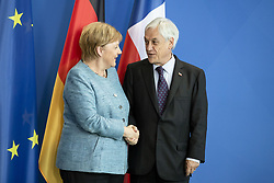 October 10, 2018 - Berlin, Germany - German Chancellor Angela Merkel (L) and Chilean President Sebastian Pinera (R) shake hands at the end of a press conference at the Chancellery in Berlin on October 10, 2018. (Credit Image: © Emmanuele Contini/NurPhoto via ZUMA Press)