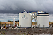 Chesapeake Energy fracking industry site, in  Woods County Oklahoma. Woods County in the Northwestern part of the state where the fracking industry is booming.