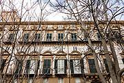 Palermo, Kalsa neighborhood, the façade of Palazzo Butera