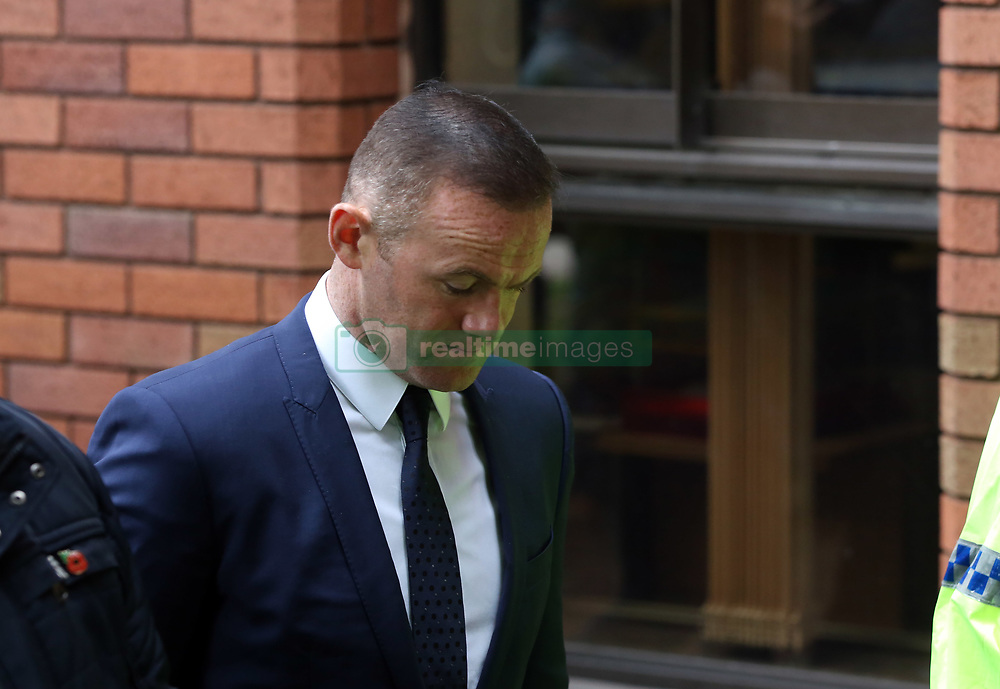 Wayne Rooney leaves Stockport Magistrates Court this morning after pleading guilty to drink driving and receiving a two year driving ban and some community service.<br /><br />18 September 2017.<br /><br />Please byline: Vantagenews.com