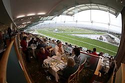 Racegoers soak up the hospitality in the Panoramic Restaurant at Cheltenham Racecourse